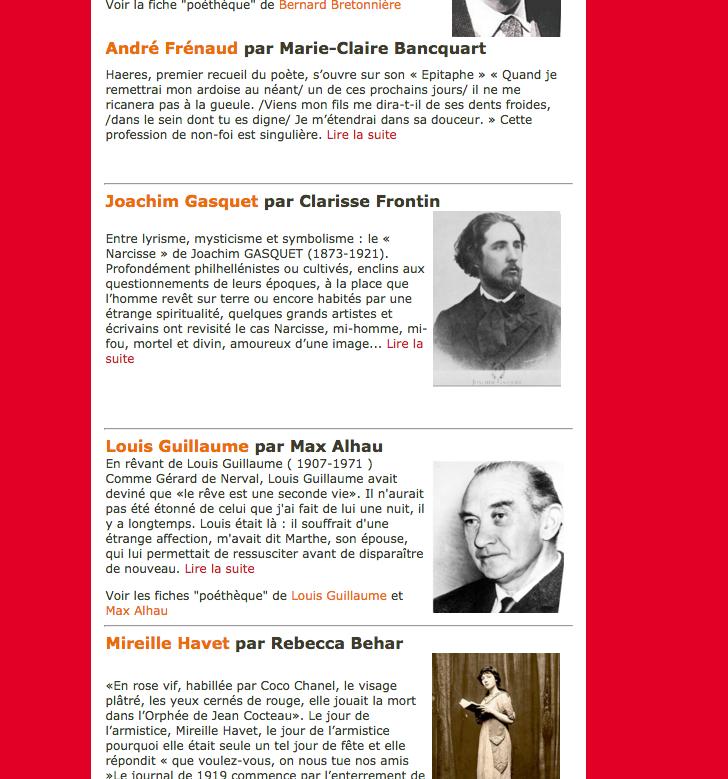 Apologie du poète «Le Grand XXème – cent ans de poésie» 18ème Printemps des Poètes