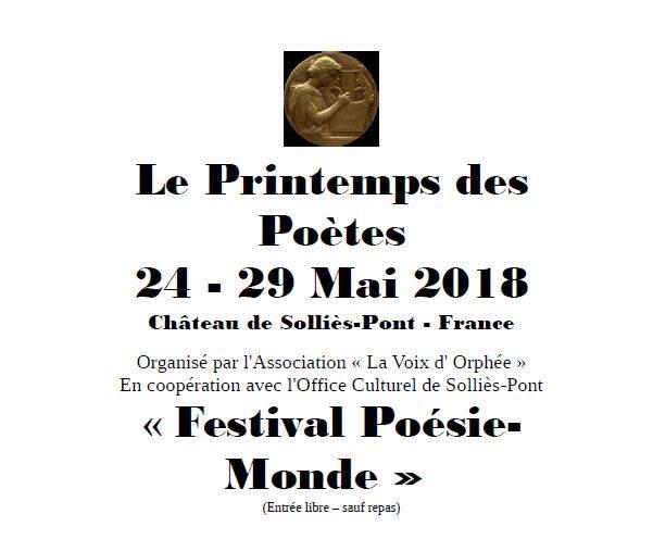 Festival de Poésie à Solliès-Pont