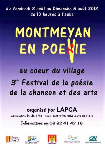 Marc Ross à Montmeyan en PoéVie du 3 au 5 aout 2018