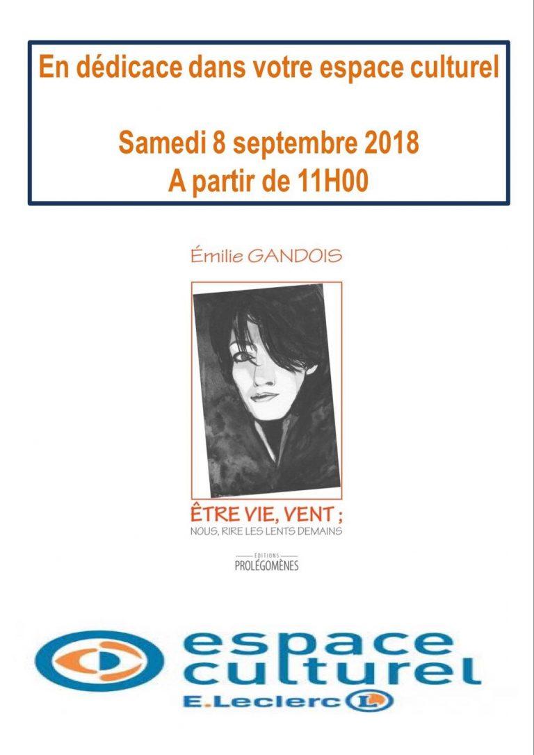 Rencontre dédicaces à Enval Espace Culturel Leclerc Émilie Gandois