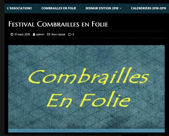 «Crombrailles en folie» à Auzances avec Émilie GANDOIS