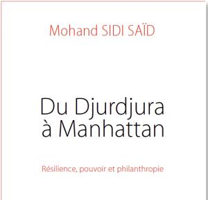 Nouveauté en Précommande : Du Djurdjura à Manhattan de Mohand Sidi Saïd