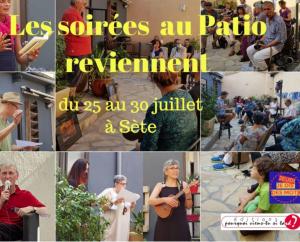 Poésies au patio du 25 au 30 juillet 2021 avec Marc et Claudine Ross